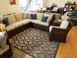 New 3pc outdoor patio furniture sectional sofa tax included free delivery for Sale in Hayward, CA