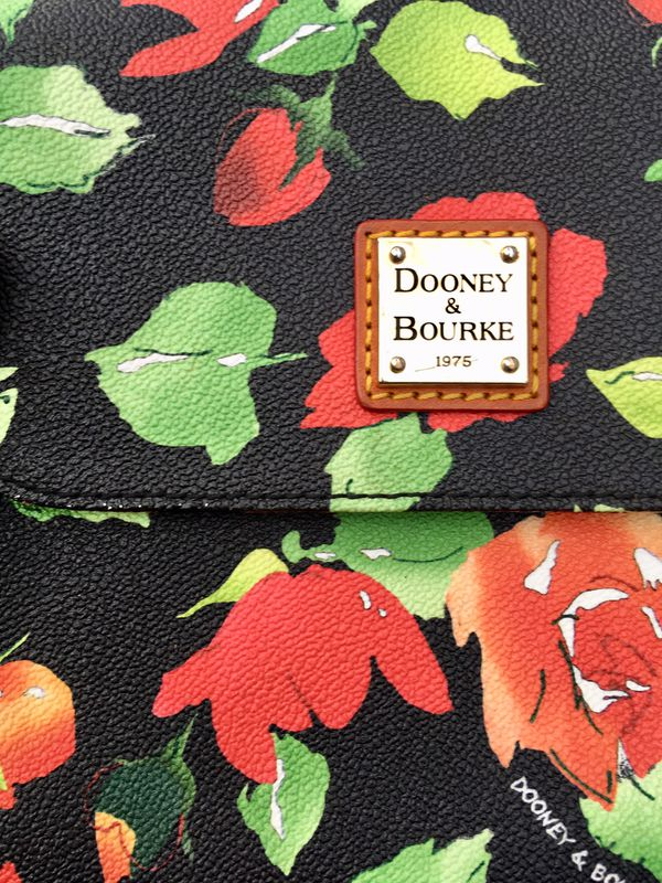Dooney and Burke floral crossbody bag purse