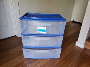 3 plastic drawer for Sale in Alameda, CA