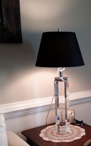 Restoration Hardware Optical Grade Crystal Hexagonal Table Lamp for Sale in Herndon, VA