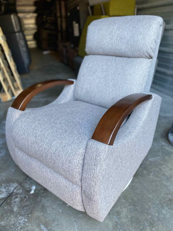 40%OFF // COSTCO Gray Fabric Power Swivel Glider Recliner // LIKE NEW - OPEN BOX