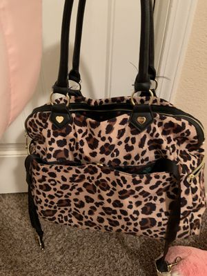 Betsey Johnson pinup leopard diaper bag for Sale in Encino, NM