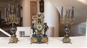 Early 1900s Clock and 2 Candelabras Ornate for Sale in Las Vegas, NV