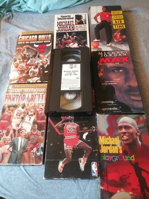 Mega collection of Michael Jordan and the bulls on (VHS) in excellent condition ONLY $30 for the whole lot for Sale in Philadelphia, PA