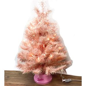 "Vintage Barbie Rapunzel Shimmery Pink Tinsel 32"" Christmas Tree for Sale in Tustin, CA"
