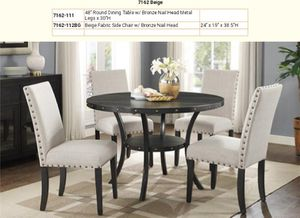 New Round Dining table and 4 chairs for Sale in Kent, WA
