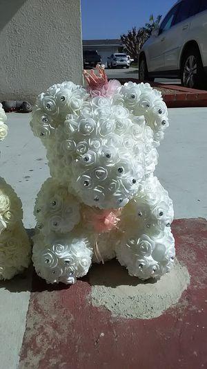 White diamond rose teddy bear for Sale in Westminster, CA