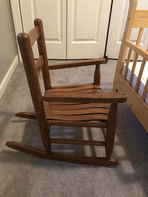 Wood kids rocking chair for Sale in Chicopee, MA