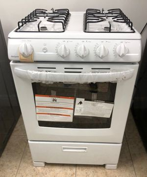 """Hot point 24"""" 2.9 cu. ft. Gas Range Oven in White NEW! with one year warranty take home for $40 down EZ financing. for Sale in Miami, FL"""