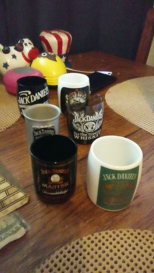 Jack Daniels set of 6 collectible shot glasses for Sale in Las Vegas, NV