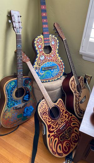 Painted Guitars. for Sale in San Diego, CA