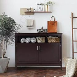 Modern Kitchen Storage Cabinet Buffet Server Table Sideboard Dining Wood Brown for Sale in Whittier,  CA