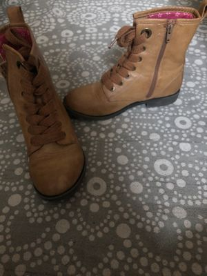 Girls combat boots size 4 for Sale in Oceanside, CA