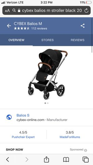Cybex Balios M (Black - new in box) for Sale in East Brunswick, NJ