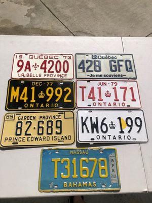 license plate lot of 7 for Sale in Miami, FL
