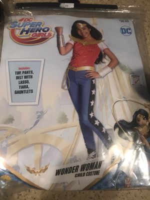 Wonder Woman Girls Halloween Costume Medium 8-10 for Sale in Lexington, SC
