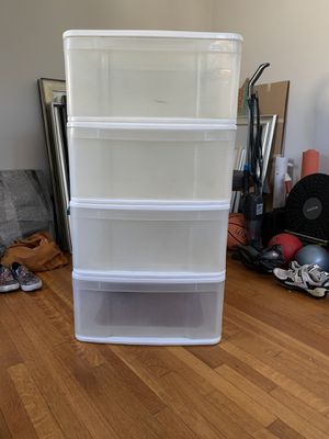 4 plastic stackable storage drawers for Sale in Los Angeles, CA