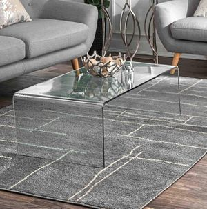 nuLOOM Abstract Vivian Area Rug, 6'7' x 9', Grey NEW for Sale in Glendale, AZ