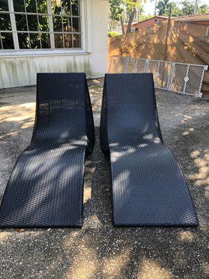 Black wicker patio furniture for Sale in Fort Lauderdale, FL