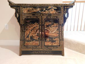 Antique Chinese Laquer Altar Cabinet for Sale in Odenton, MD