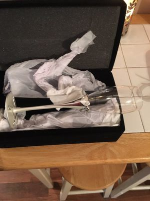 Champagne glasses. Never used. New in box! for Sale in Selden, NY