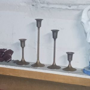 Brass Candle Holders (Tarnished Need Clean) for Sale in Cleveland, OH