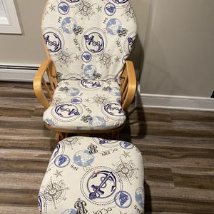 Rocking Chair with Ottoman for Sale in Denville, NJ