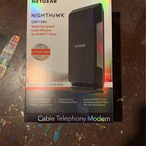 Netgear CM1150V Gig Speed modem (includes Phone Lines) for Sale in Bensenville, IL