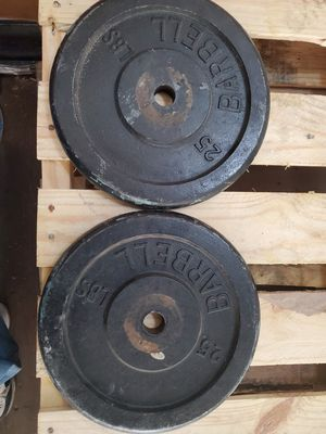 2x 25lb plates for Sale in Lynwood, CA