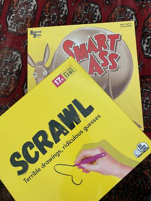 Scrawl and Smart Ass Adult Board Games for Sale in Salt Lake City, UT