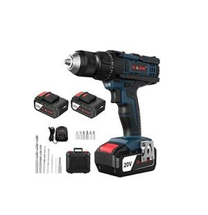 S-LONG 20V Max Impact Cordless Drill Driver Kit 2 Batteries Fast Charger for Sale in Los Angeles, CA