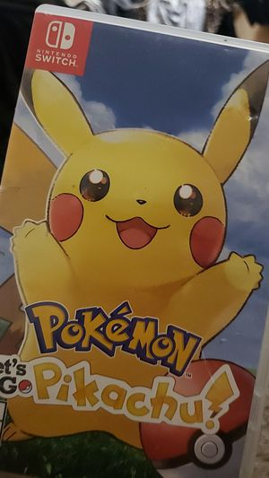 Let's go Pikachu, Pokémon game for switch for Sale in San Jose, CA
