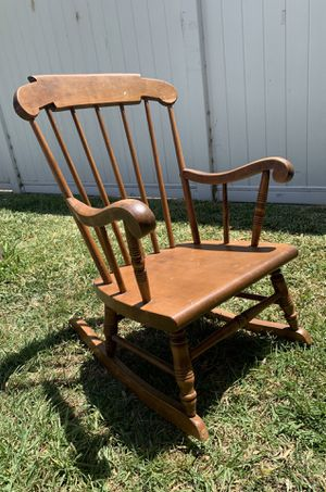 Vintage Solid Quality Wood Spindle Back S. Bent & Bros Rocking Chair, Child Size for Sale in Los Angeles, CA
