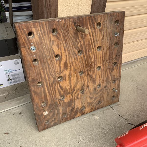 Custom Made Fitness Peg Board