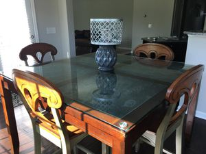 Kitchen glass top table set for Sale in Spring Hill, TN