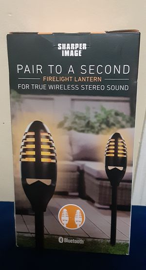 New 2 in1 Wireless stereo sound and firelight lantern for Sale in San Jose, CA