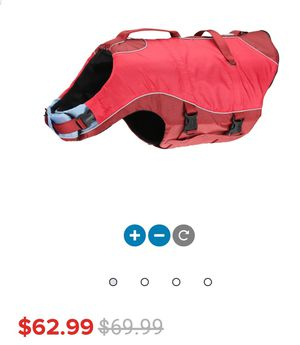 Dog Water Safety Vest Red-Grey for Sale in Rancho Cucamonga, CA