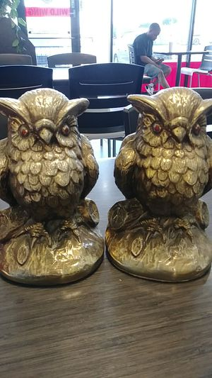 Vintage brass owl on tree bookends for Sale in San Antonio, TX