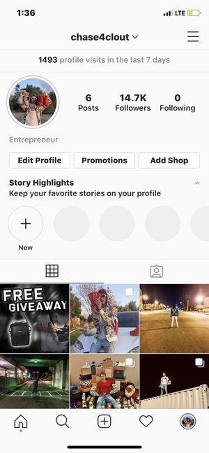 Instagram Profile 15k followers for Sale in Pomona, CA