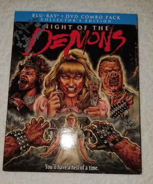 NIGHT OF THE DEMONS Bluray signed by star Linnea Quigley for Sale in Miami, FL