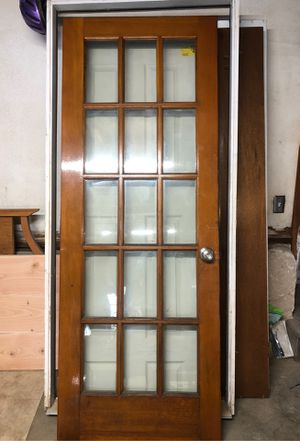 15 panel solid wood door for Sale in North Smithfield, RI