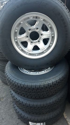 4 new wheels 6 lugs trailers &tires 550 for Sale in Anaheim, CA