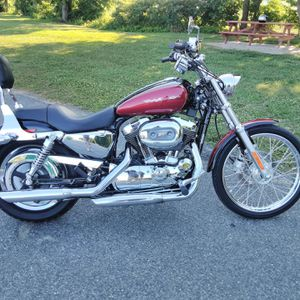 2005 Harley Davidson Sportster Custom Deluxe Black And Red for Sale in Essex, MD