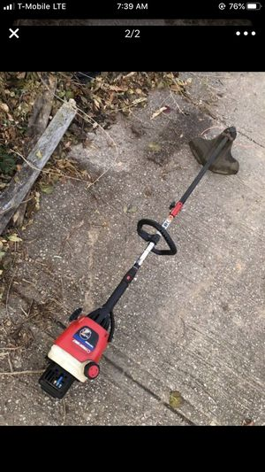 Troy Blitz Straight Bar Weed wacker And Troy Blotz Leaf Blower For scale Good conditions for Sale in Capitol Heights, MD