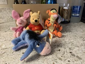Winnie the Pooh beaniebag friends collection plush collection for Sale in Norwalk, CA
