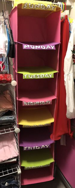 Monday-Sunday Hanging Organizer for Sale in Wake Forest,  NC