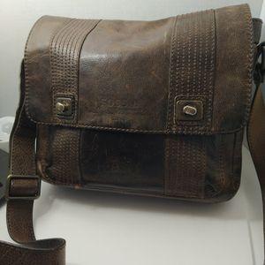 Fossil Brown Leather Messenger Bag for Sale in Hemet, CA