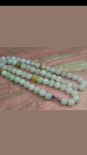 Sale!!Certified Green Yellow 100% Natural A jade jadeist multicolors beads Necklace 8mm for Sale in Richmond, CA