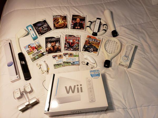 Nintendo Wii Bundle with (9) Games