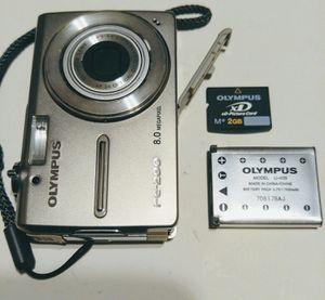 Olympus FE-280 8MP Digital Camera Battery SD Card Wall Charger for Sale in Brevard, NC